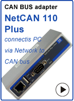 Ethernet to CAN bus adapter - NetCAN 110