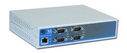 VScom NetCom+ (Plus) 413, a quad port Serial Device Server for Ethernet/TCP to RS232/422/485
