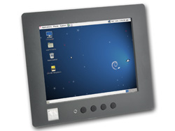 VS-860 RISC Panel PC with 8-inch resistive Touch, supports Linux and Windows CE6